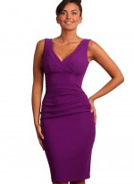 gathered-banbury-dress-violet purple